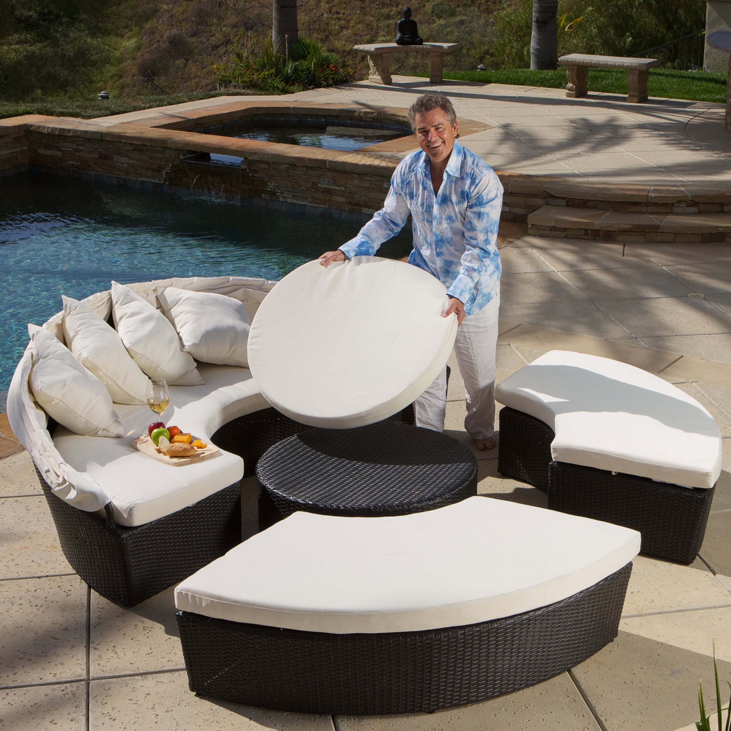 Delicieux Shop La Mesa 4 Piece Cabana/ Canopy Set By Christopher Knight Home   Free  Shipping Today   Overstock.com   7873328