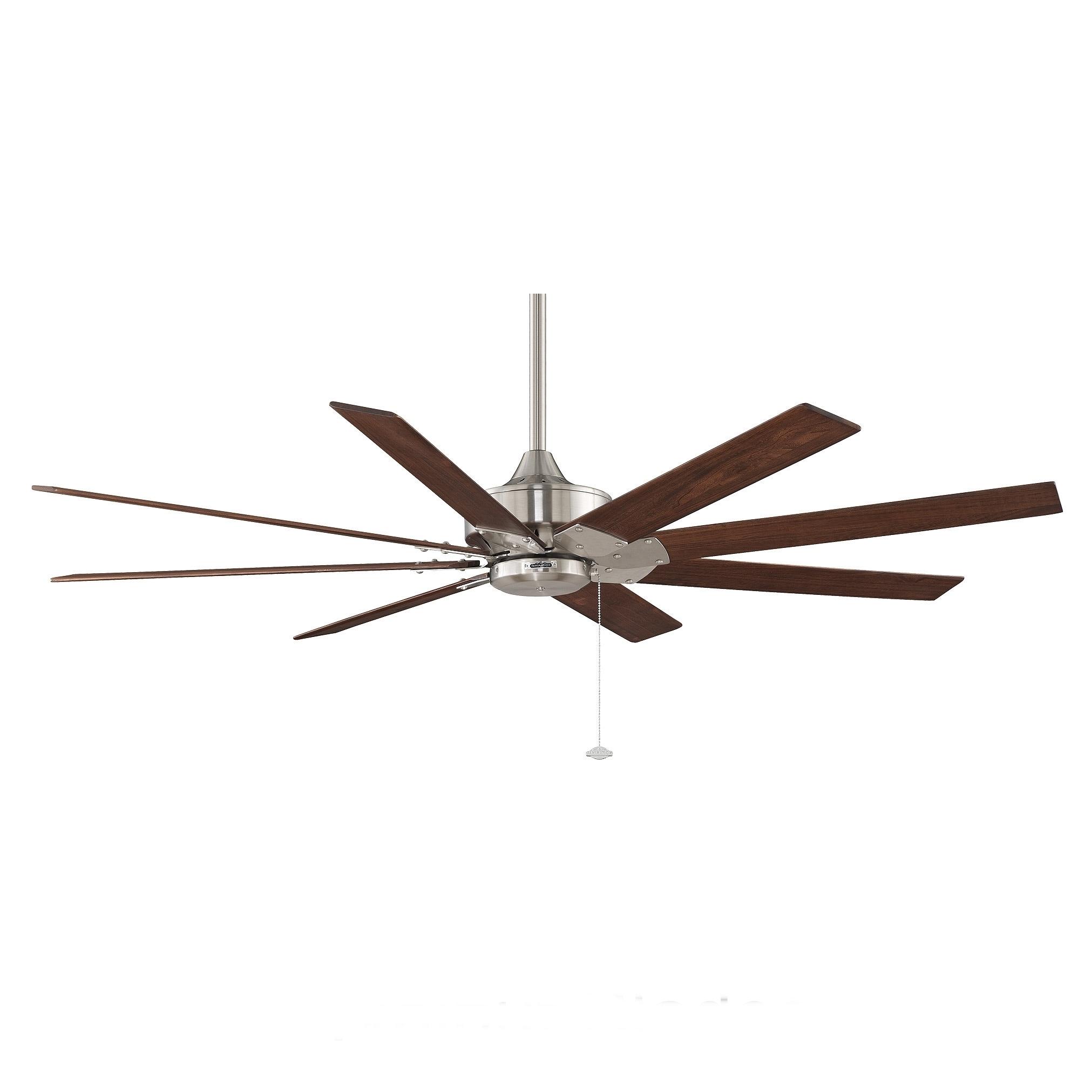 Fanimation Levon 63 inch Brushed Nickel Ceiling Fan Free
