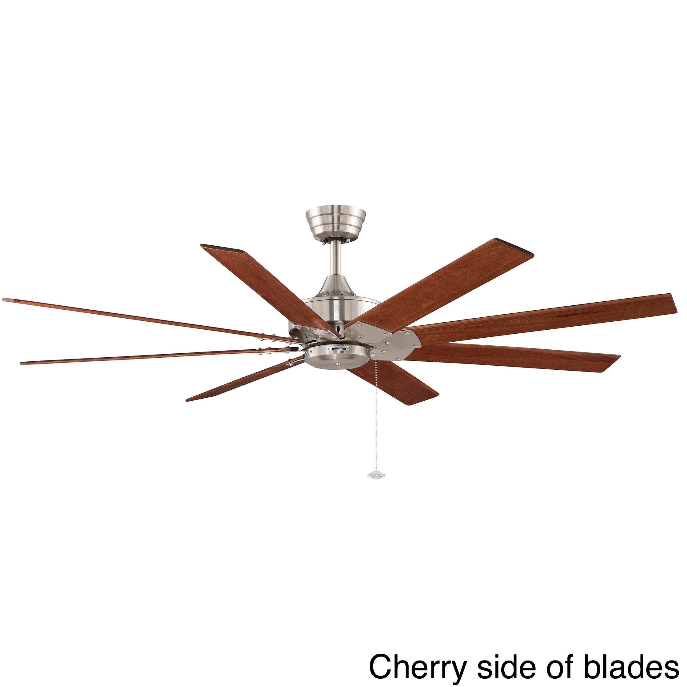 Fanimation Levon 63 inch Brushed Nickel Ceiling Fan Free