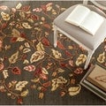 Martha Stewart by Safavieh Autumn Woods Francesca Black Wool/ Viscose Rug (5' x 8')