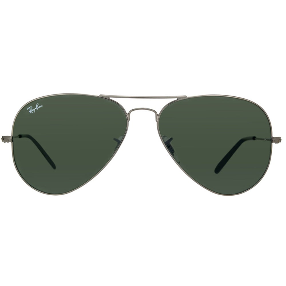 c74cbc15d47 Shop Ray-Ban Aviator RB3025 Unisex Gunmetal Frame Green Classic Lens  Sunglasses - Free Shipping Today - Overstock - 7879607