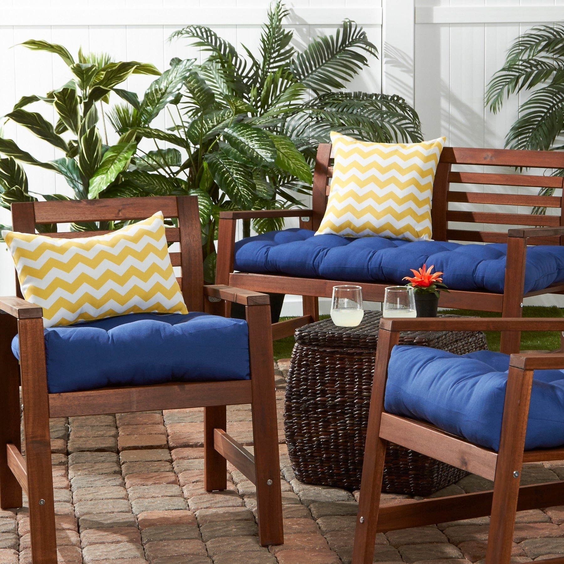 20 inch Outdoor Chair Cushion Set of 2 Free Shipping Today