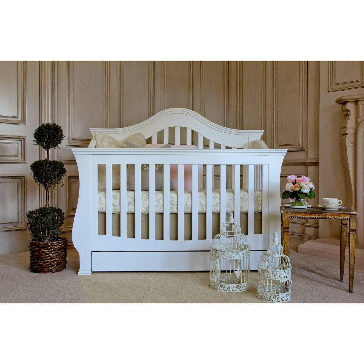 Shop Million Dollar Baby Classic Ashbury 4 In 1 Convertible Crib With  Toddler Rail   Free Shipping Today   Overstock.com   7880234