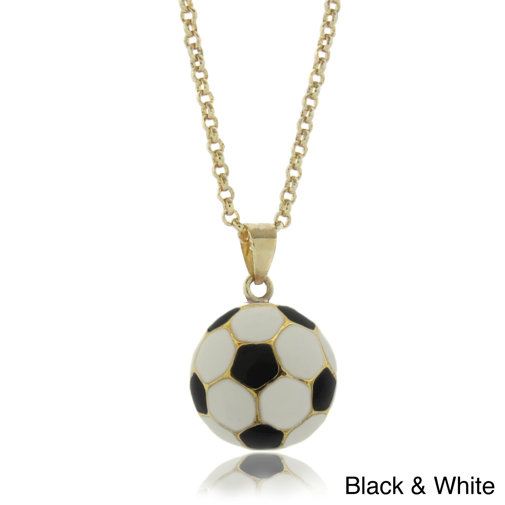 jewelry charm necklace plated soccer name pendant namefactory gold