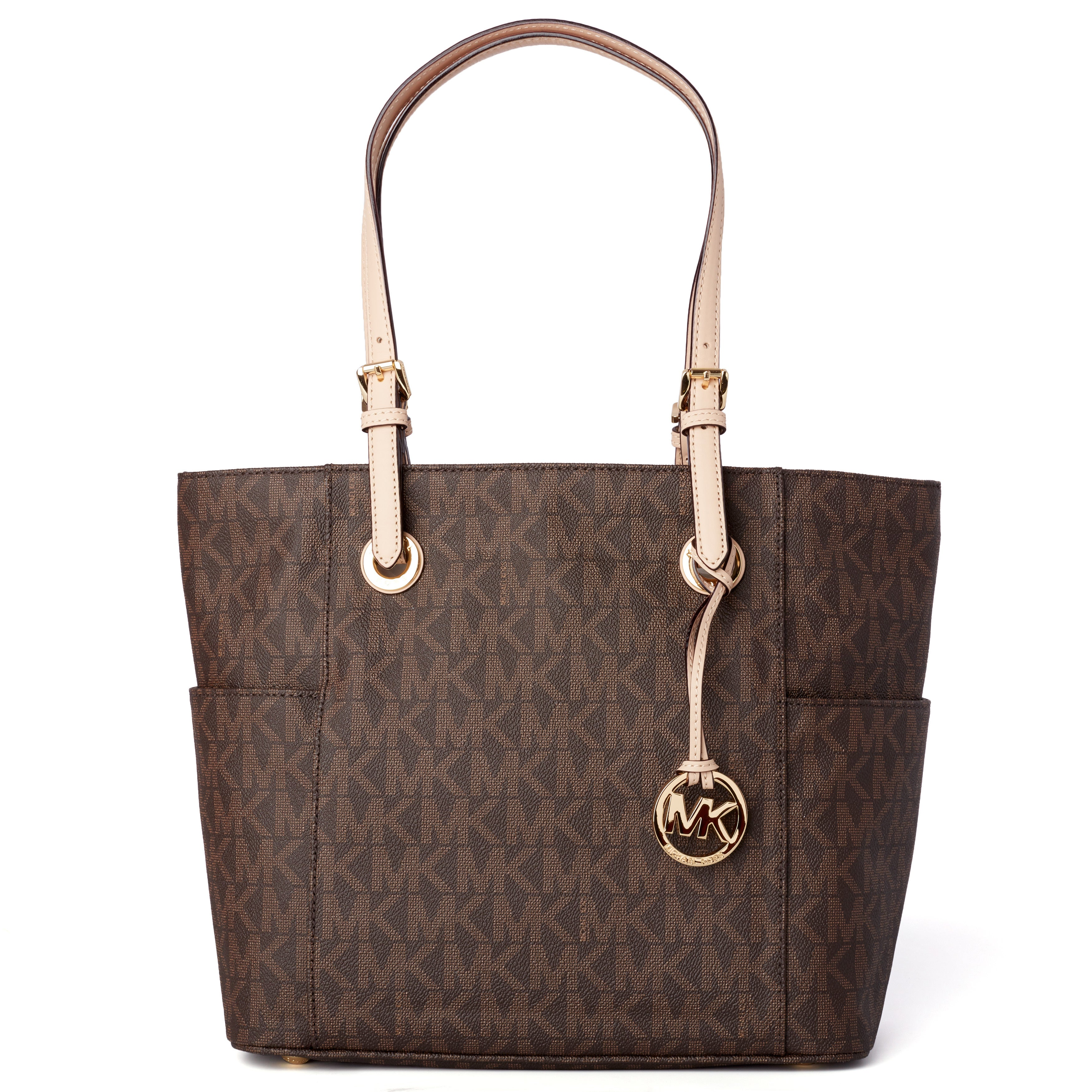 325afa968ef8 Shop Michael Kors Jet Set East West Brown Signature Tote Bag - Free  Shipping Today - Overstock - 7881346