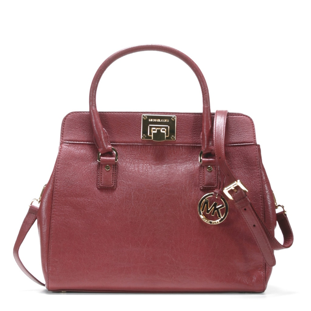 69b5d8d24582 Shop MICHAEL Michael Kors 'Astrid' Large Leather Satchel - Free Shipping  Today - Overstock - 7881355