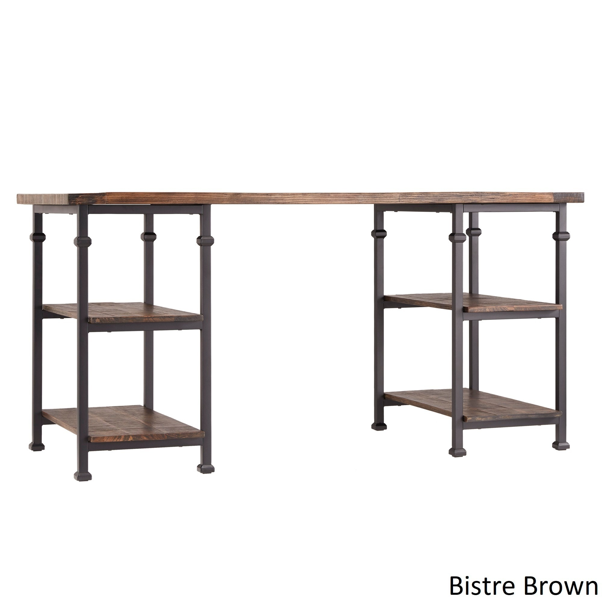 Shop Myra Vintage Industrial Storage Desk By INSPIRE Q Classic   On Sale    Free Shipping Today   Overstock.com   7883916