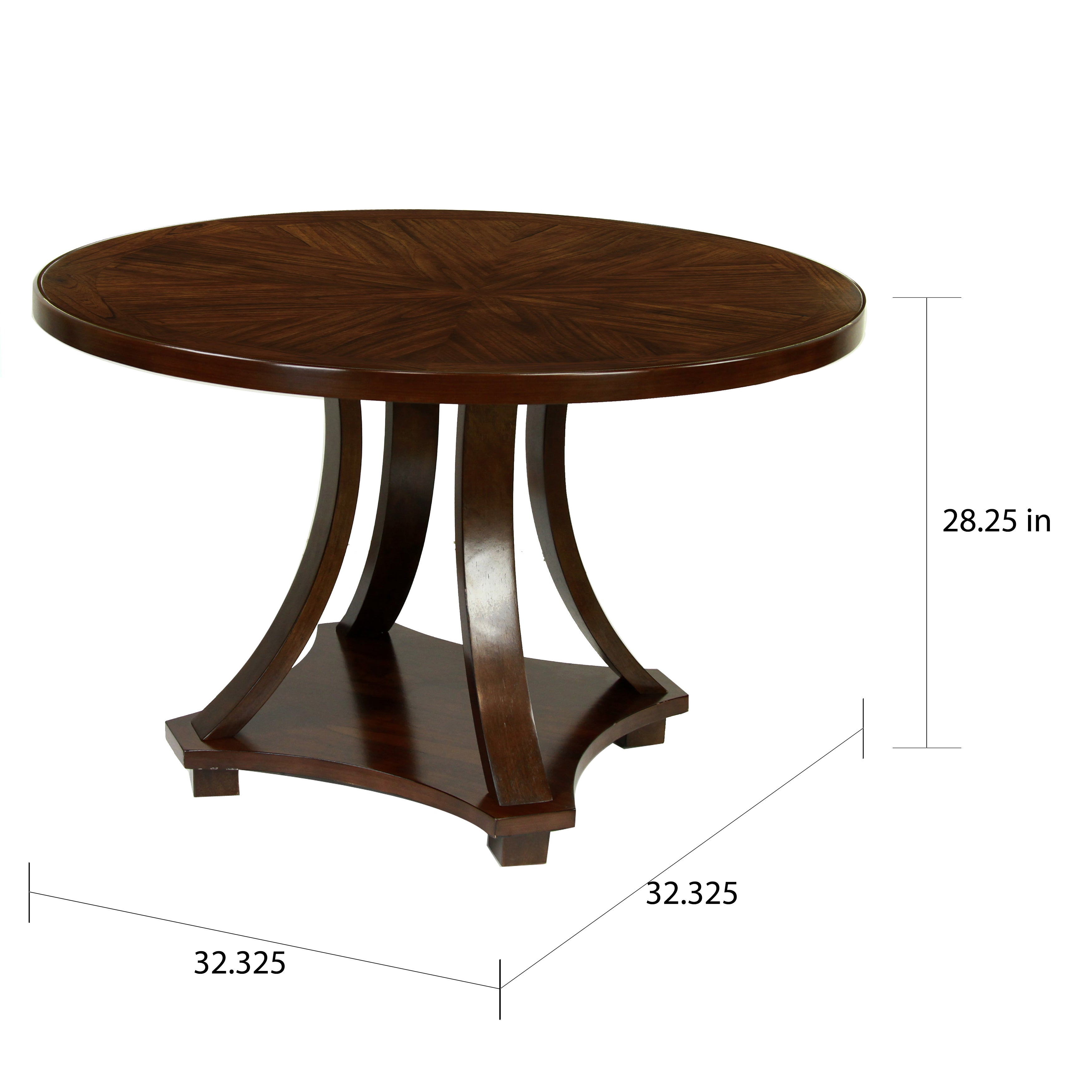 Shop Furniture Of America Briggs Contemporary Dark Walnut 48 Inch Dining  Table   Free Shipping Today   Overstock.com   7884076