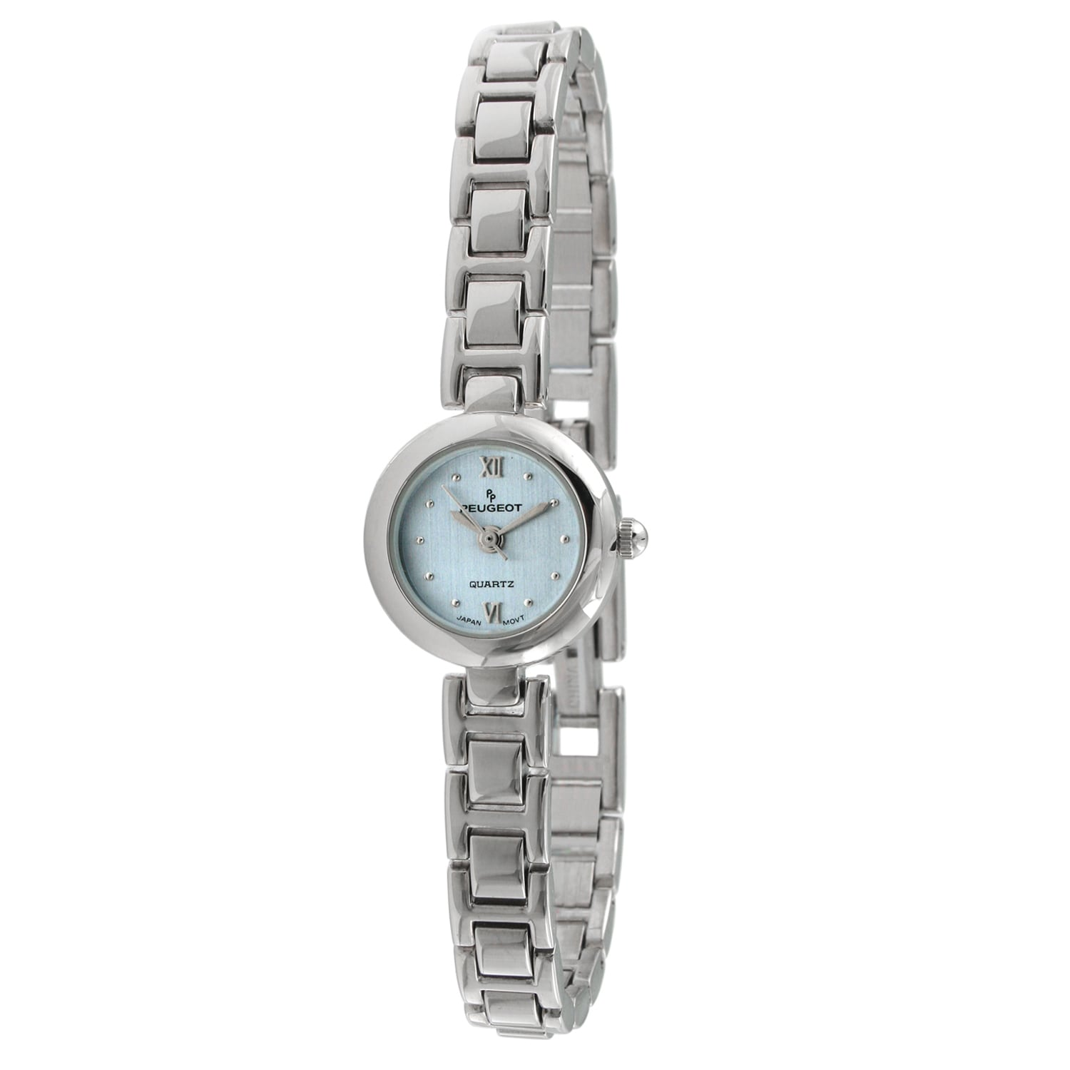 shop peugeot women's round mini blue dial watch - free shipping