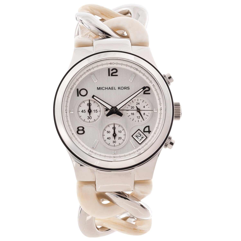 03a6a568f76a5b Shop Michael Kors Women's MK4263 'Runway' Twist Chronograph Watch ...