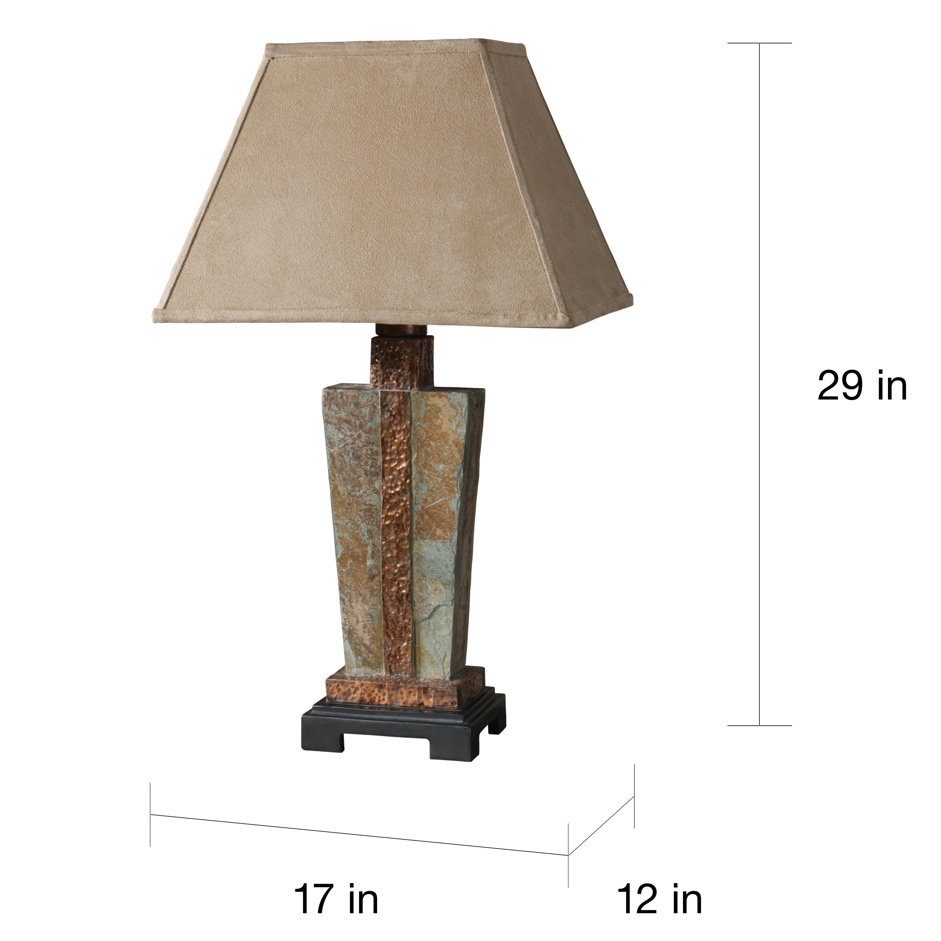 Attractive Uttermost 1 Light Slate And Copper Accent Lamp   Free Shipping Today    Overstock.com   15266720
