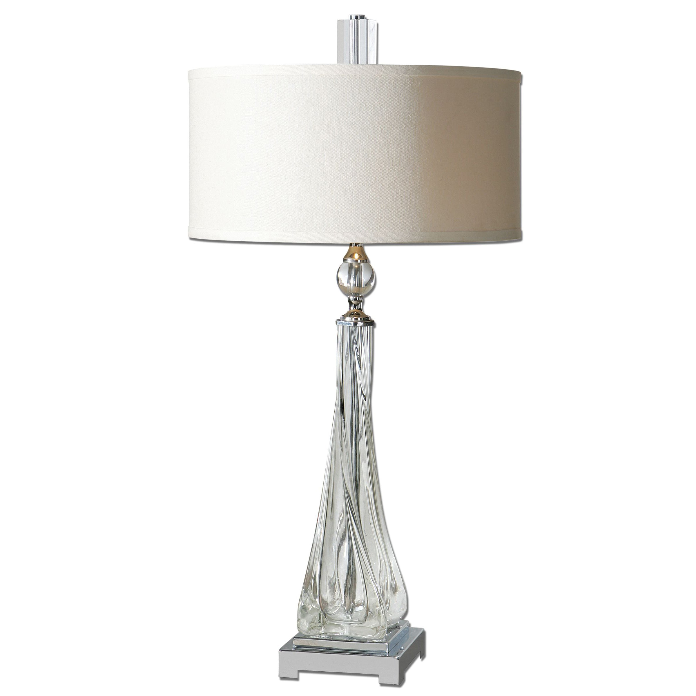 Shop Uttermost Grancona Twisted Glass Table Lamp - Free Shipping ...