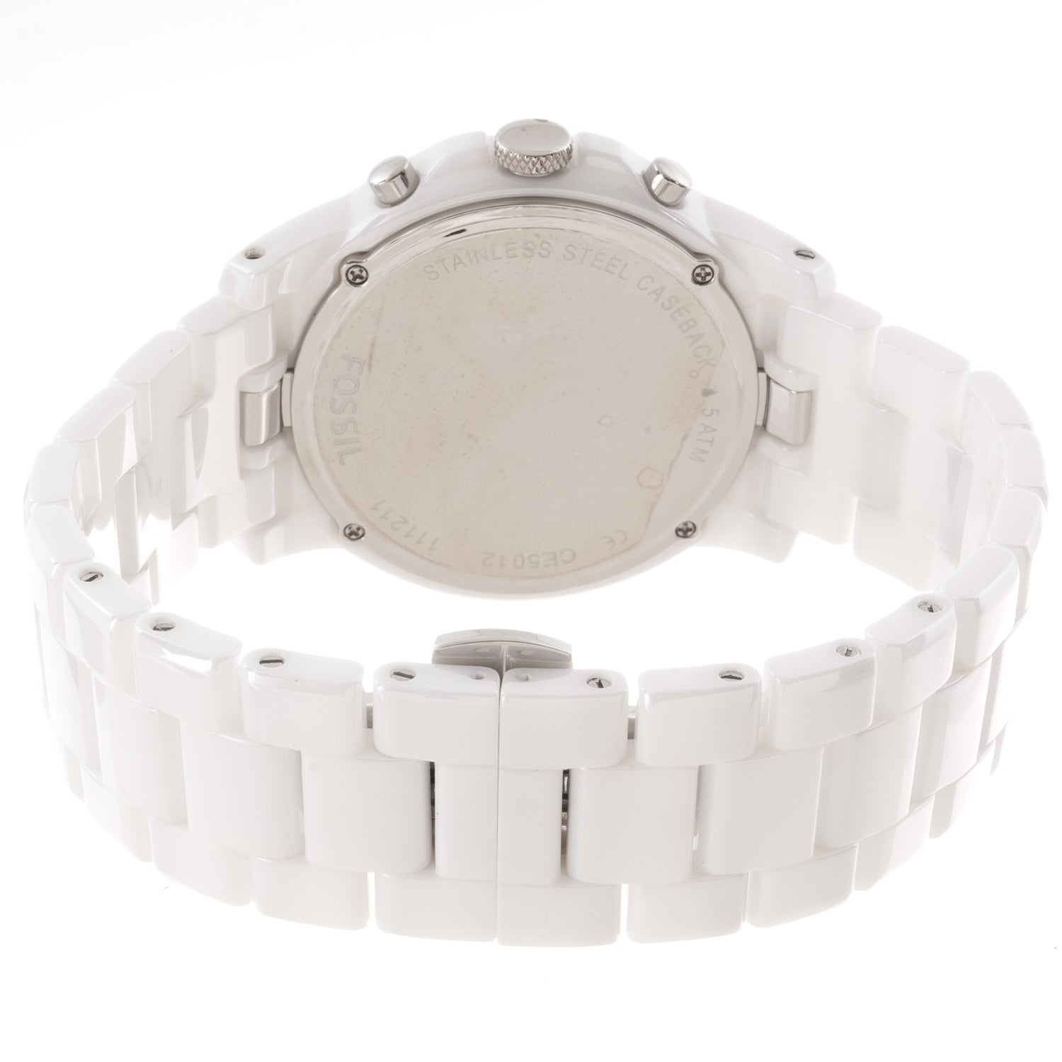 f35bb4cc4 Shop Fossil Men's 'Grant' White Ceramic Chronograph Watch - Free Shipping  Today - Overstock - 7886432