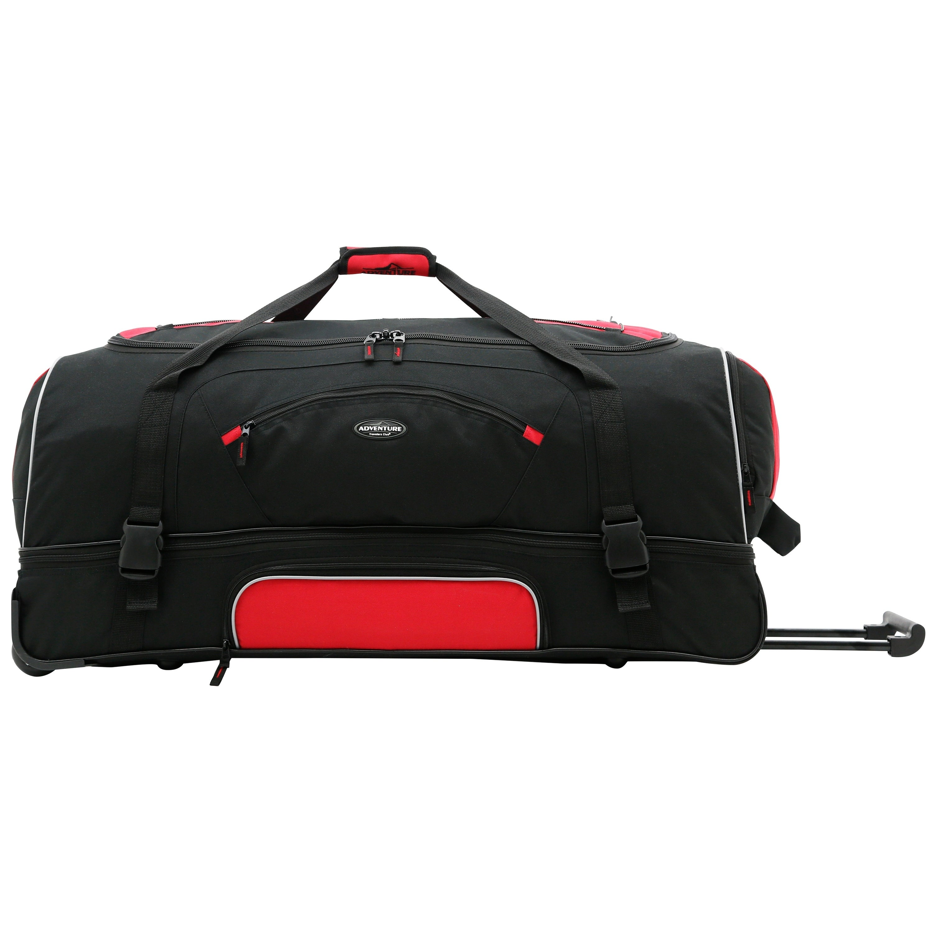 52f1cd9d99ec Traveler's Club Adventurer Duffel Collection 36-inch 2-section Drop Bottom  Rolling Duffel