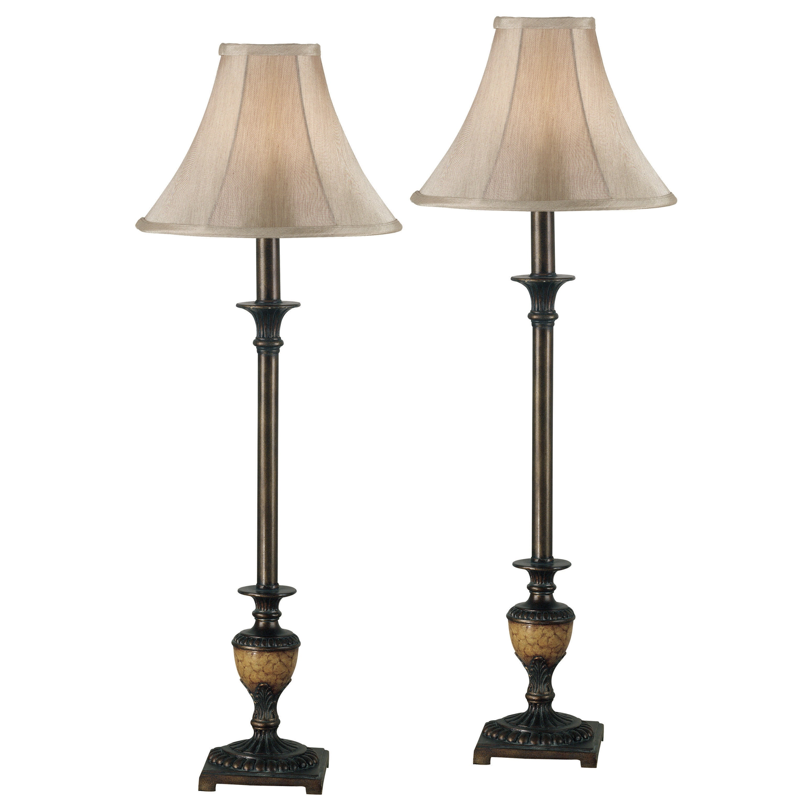 of shade lamp scallop bell shades products long buffet light cream