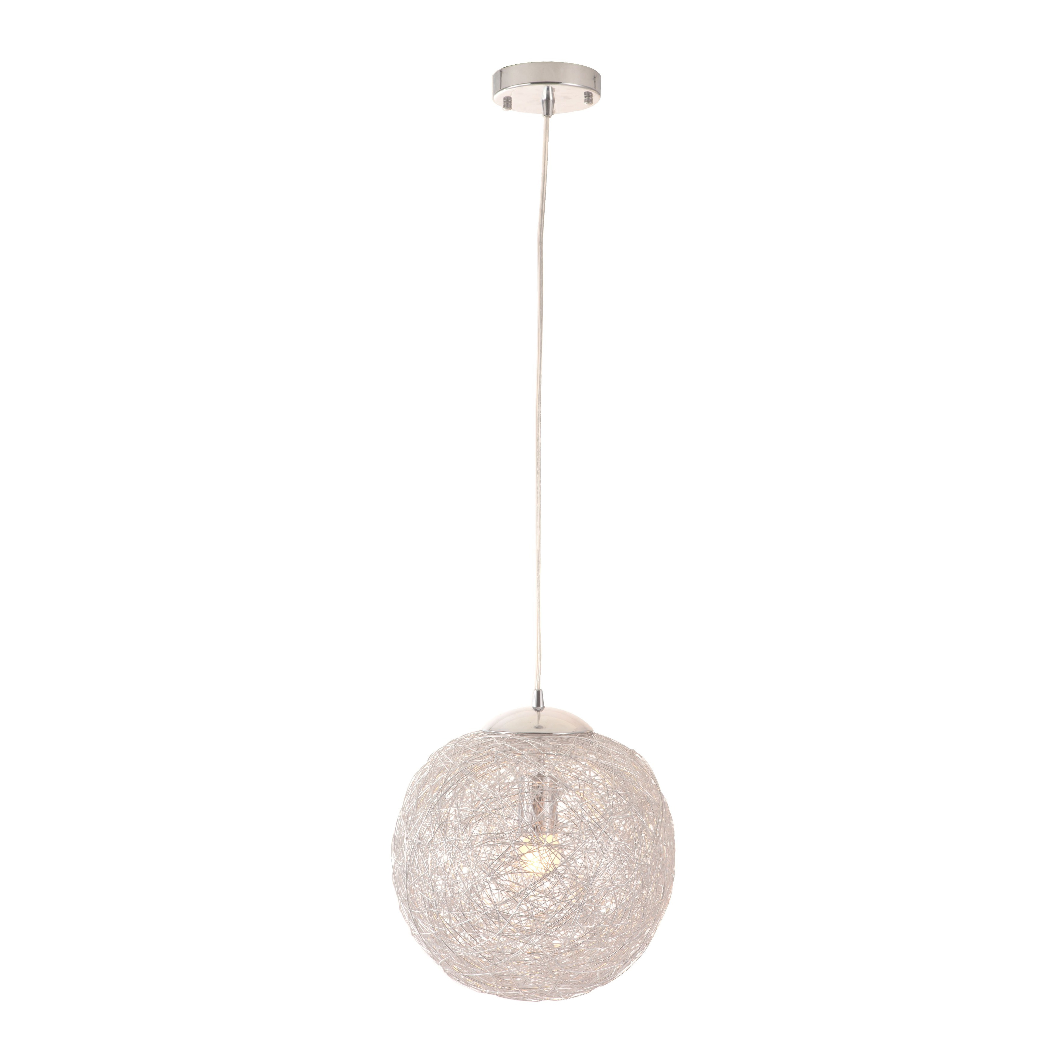 Shop Opulence Aluminum Wire Wrapped Ceiling Lamp On Sale Free Wiring A Shipping Today 7896979