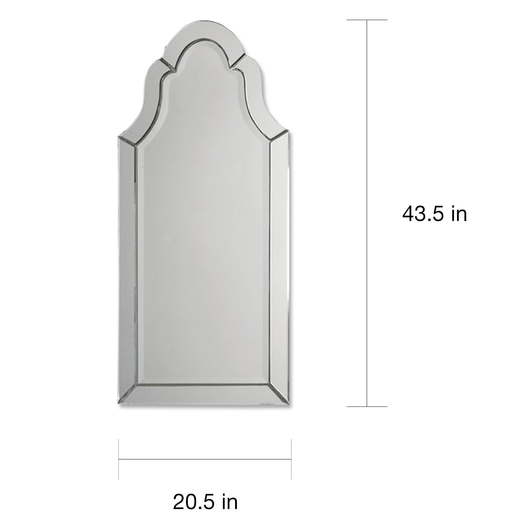 Shop Uttermost Hovan Frameless Arched Mirror - Free Shipping Today ...
