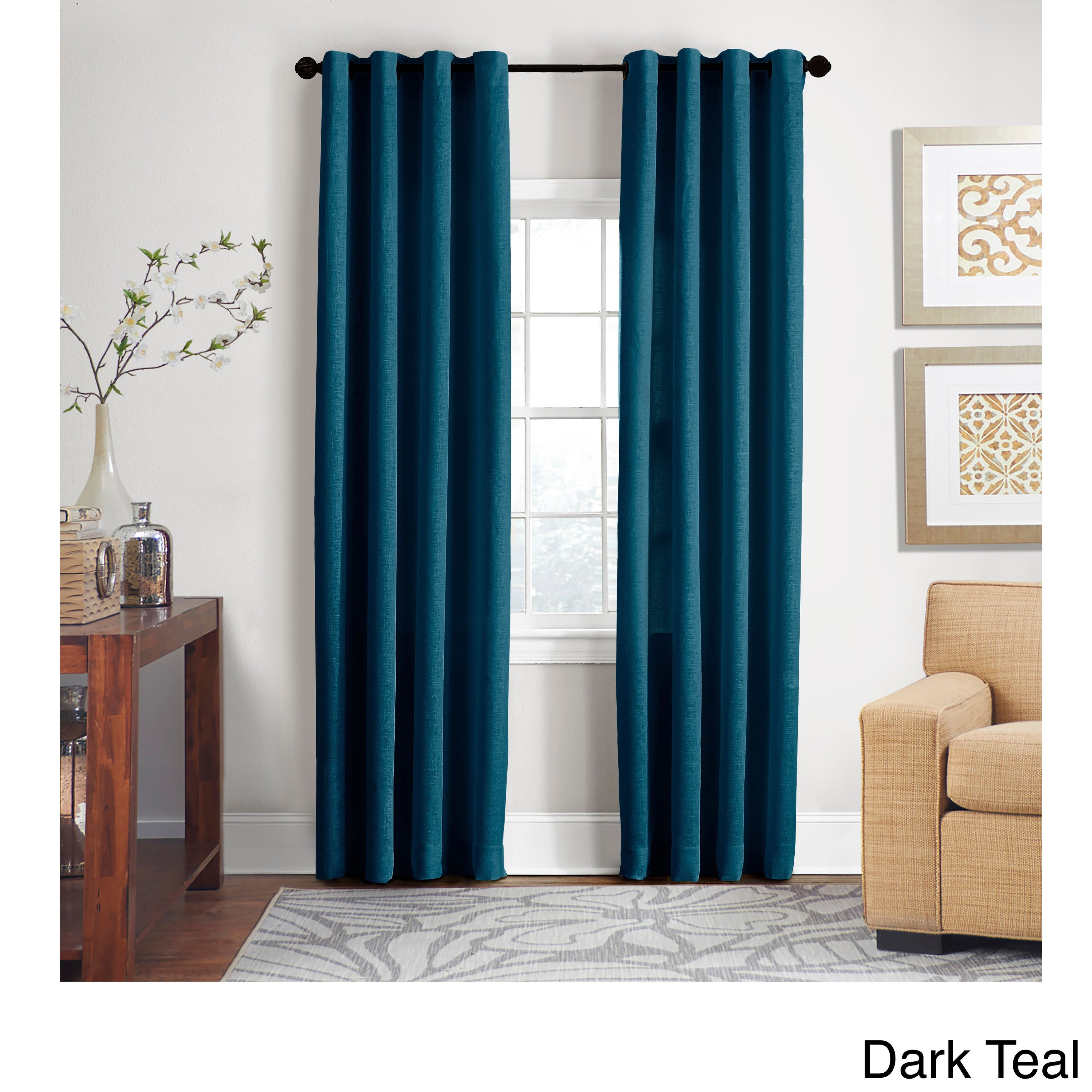 Grand Luxe 100-Percent Linen Gotham Grommet Top Curtain Panel - Free  Shipping Today - Overstock.com - 15281111