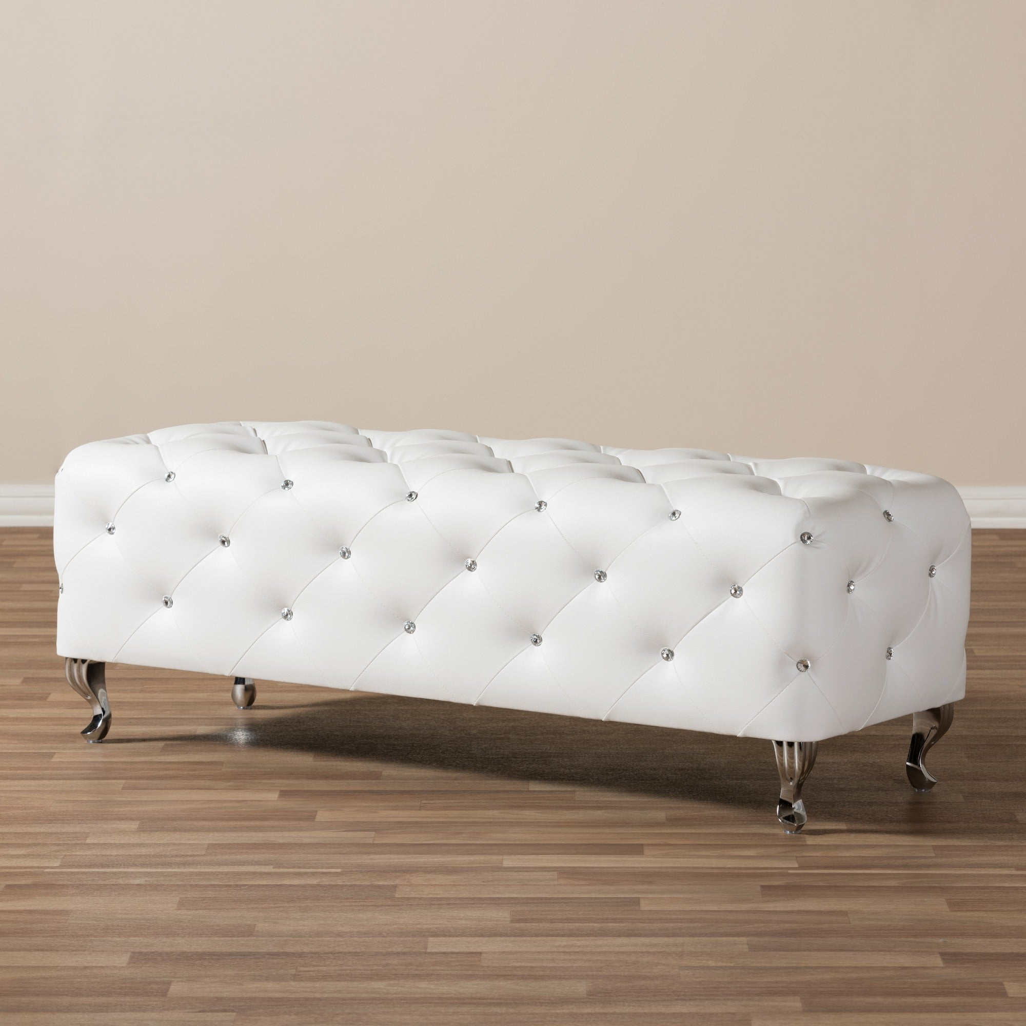baxton studio stella crystal tufted modern bench  free shipping today overstockcom  . baxton studio stella crystal tufted modern bench  free shipping