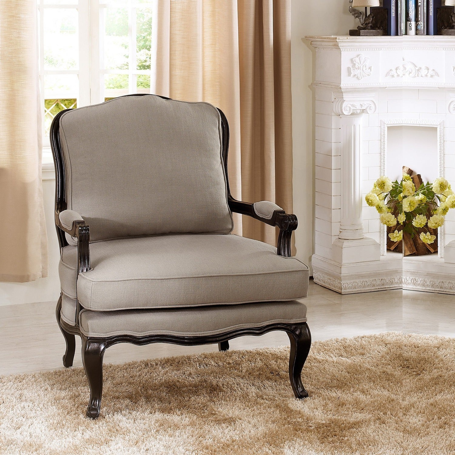 Baxton Studio Antoinette Clic Antiqued French Accent Chairs Set Of 2