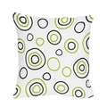 Sweet JoJo Designs Spirodot Lime and Black Throw Pillow