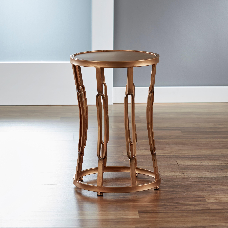 Shop U0027Hourglassu0027 Metal End Table   Free Shipping Today   Overstock.com    7910652