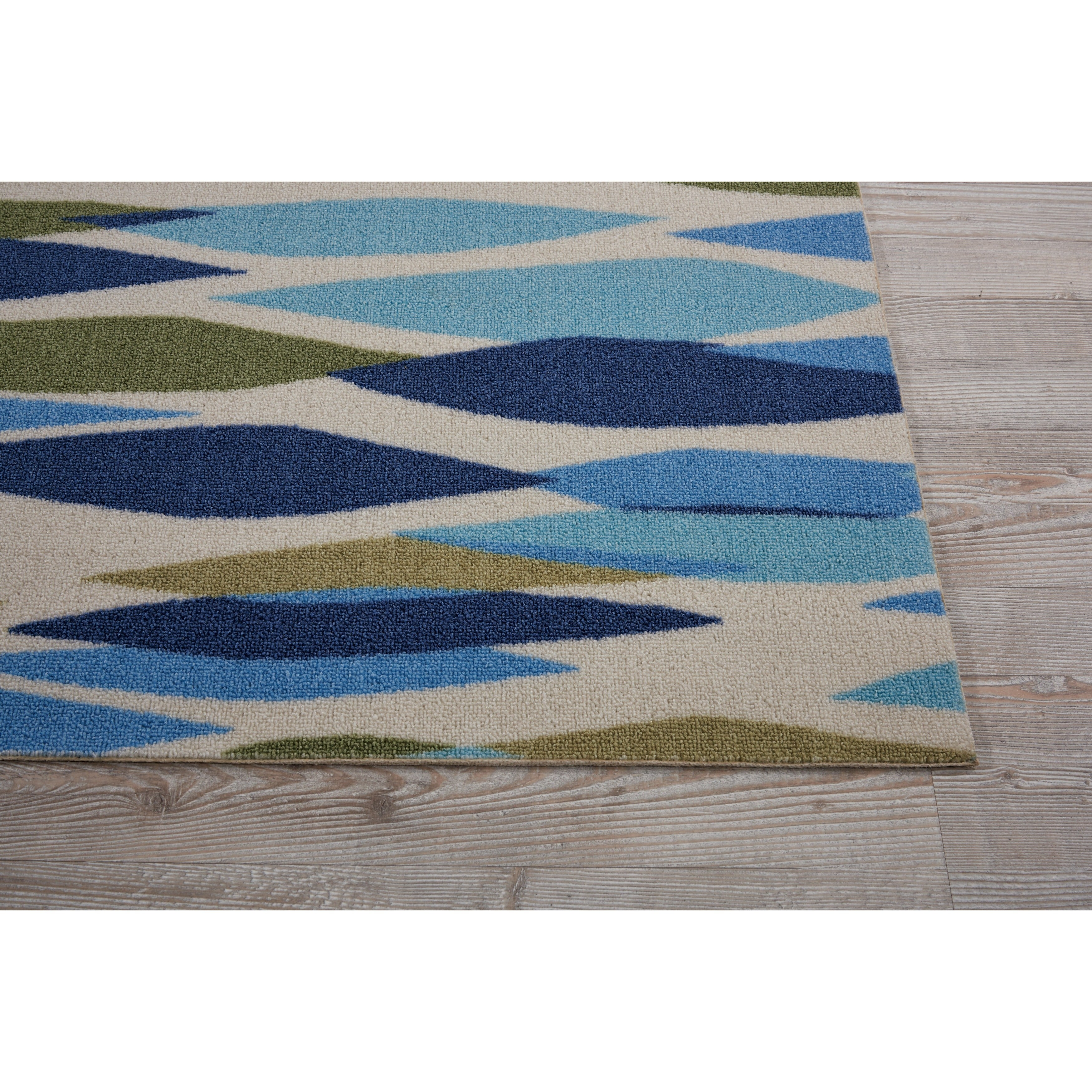 New Waverly Sun N' Shade Bits & Pieces Seaglass Area Rug by Nourison  CH14