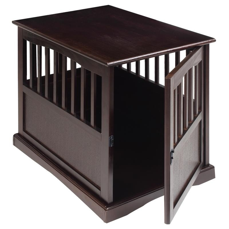 wooden dog crate furniture. Wooden End Table And Pet Crate - Free Shipping Today Overstock 15293900 Dog Furniture