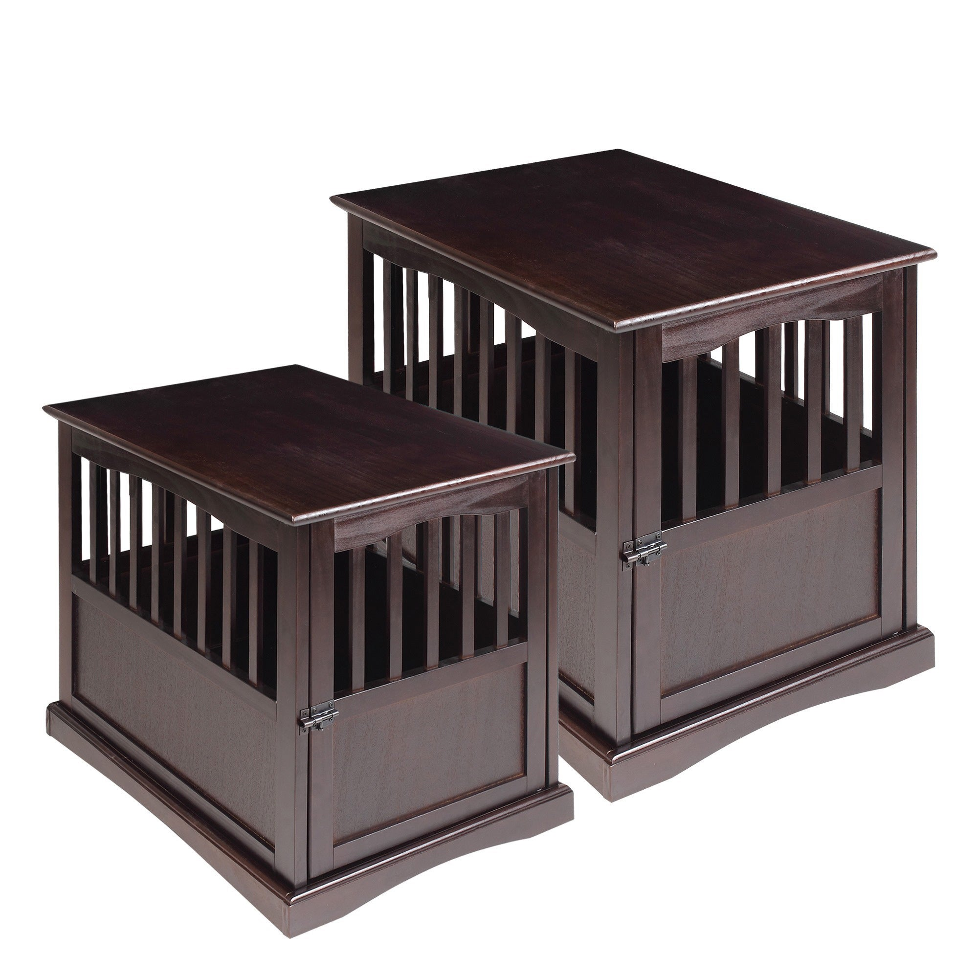 Wooden End Table and Pet Crate Free Shipping Today Overstock