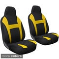 Oxgord 2-piece Integrated High Back Universal Fit Bucket Seat Cover Set for Two Front Chairs