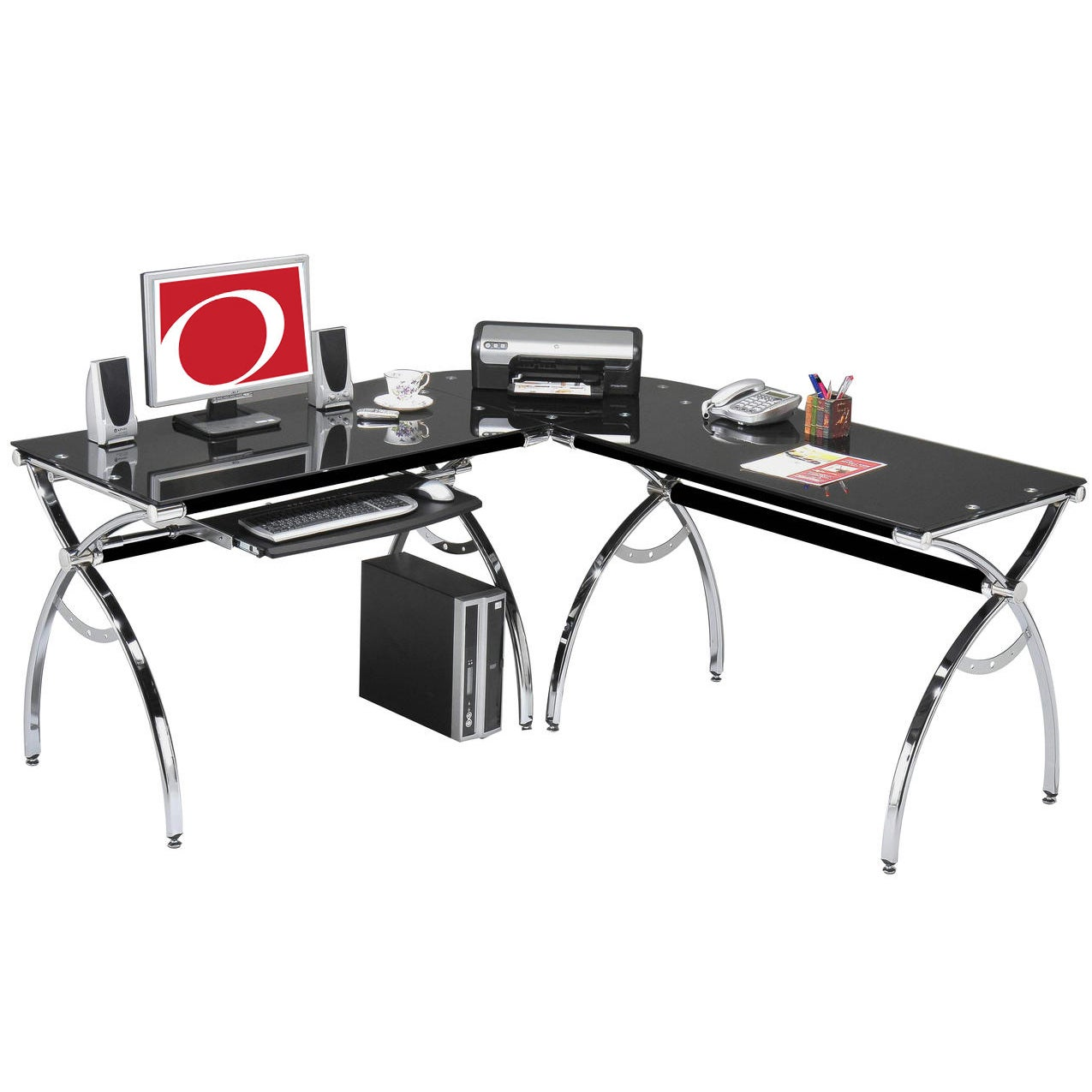 shaped cherry l multiple black hutch finishes home with desk by amazon kitchen dp computer ca mainstays desks