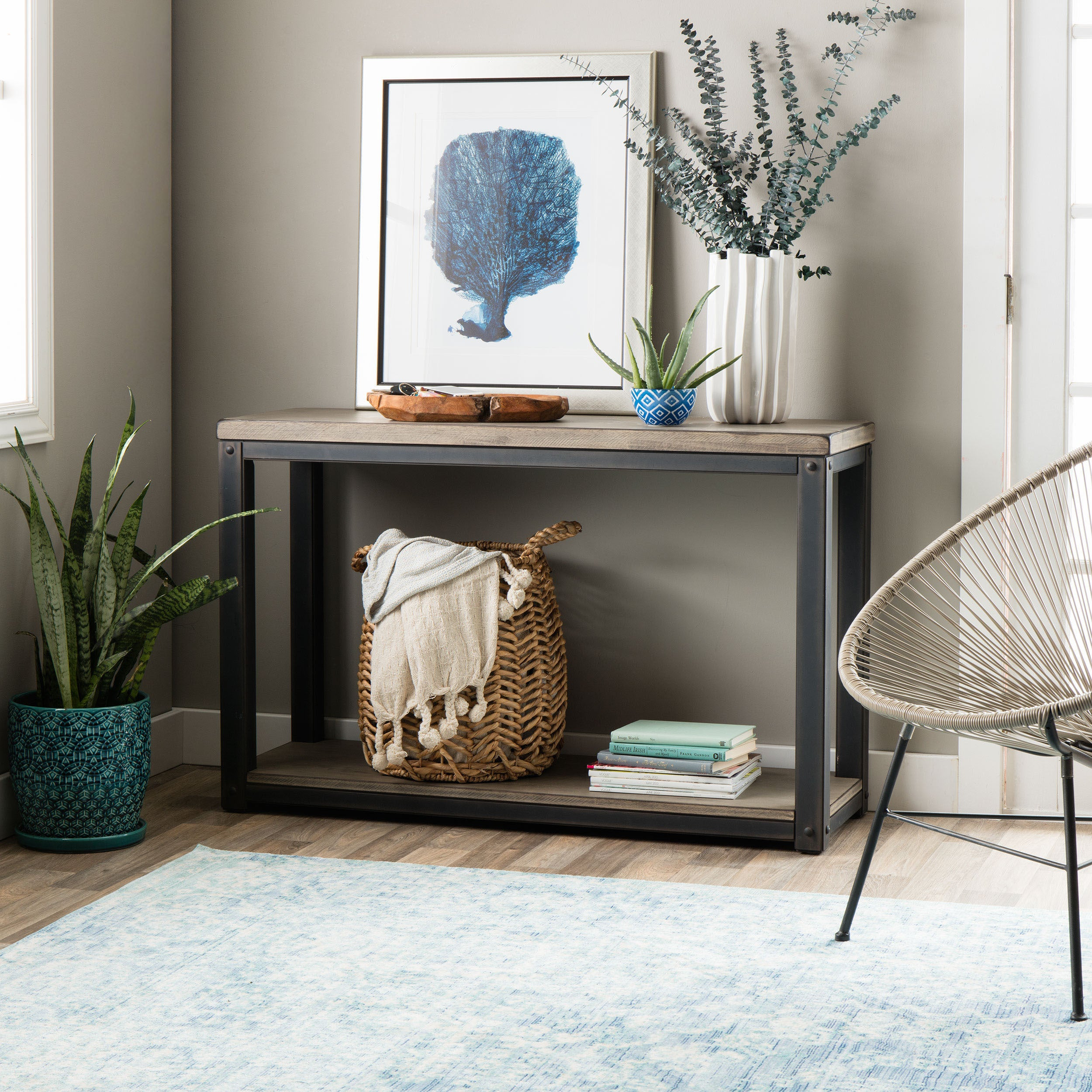 Carbon Loft Heritage Sofa Table Free Shipping Today 7918354