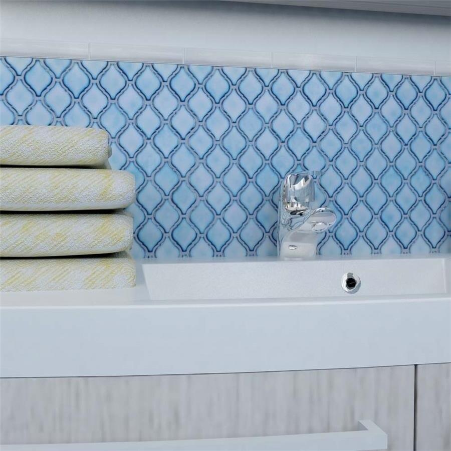SomerTile 9.875x11.125-inch Casablanca Aella Porcelain Mosaic Floor ...