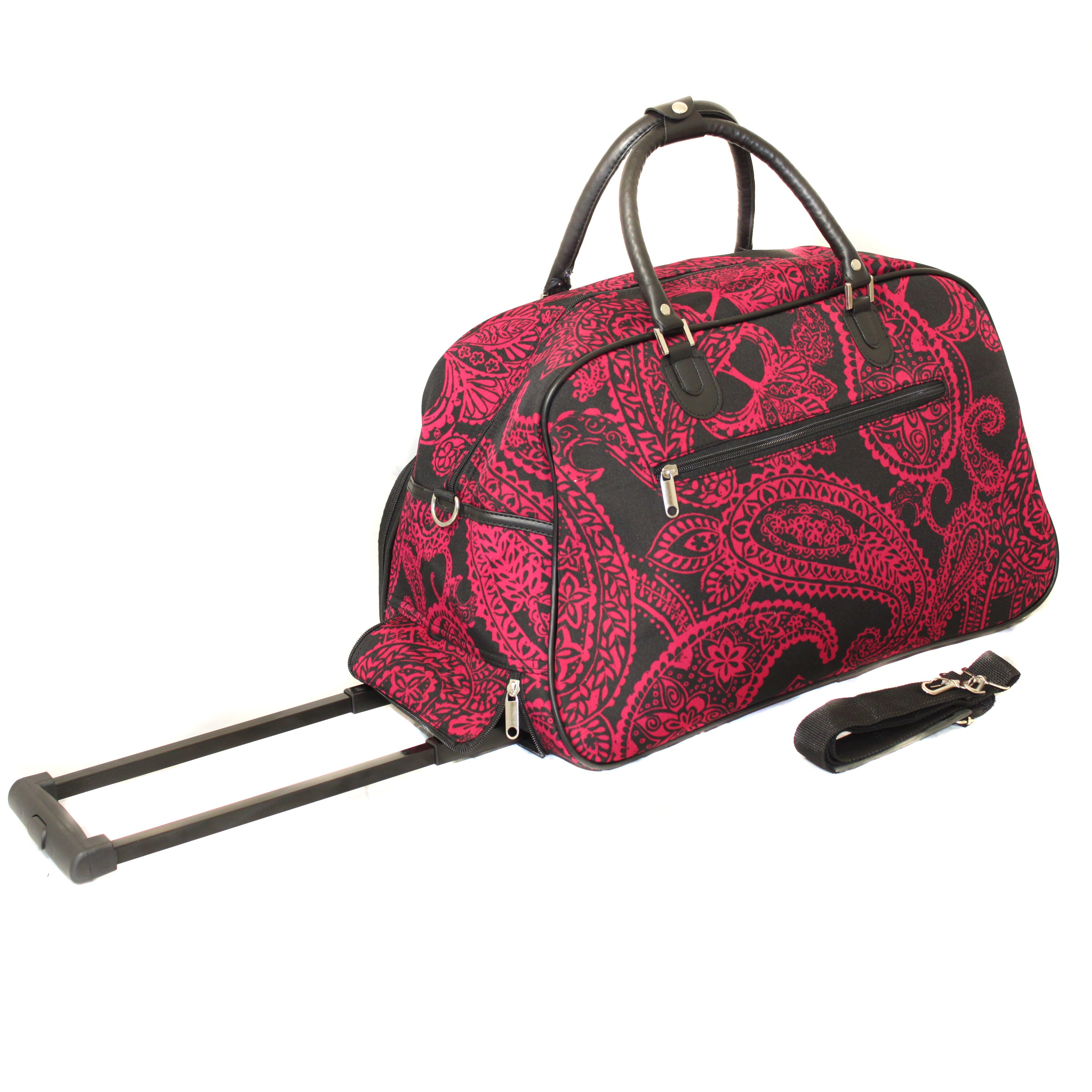 Shop World Traveler Designer Prints Paisley 21-inch Carry-on Rolling Duffel  Bag - On Sale - Free Shipping On Orders Over  45 - Overstock.com - 7923619 50fc45c623
