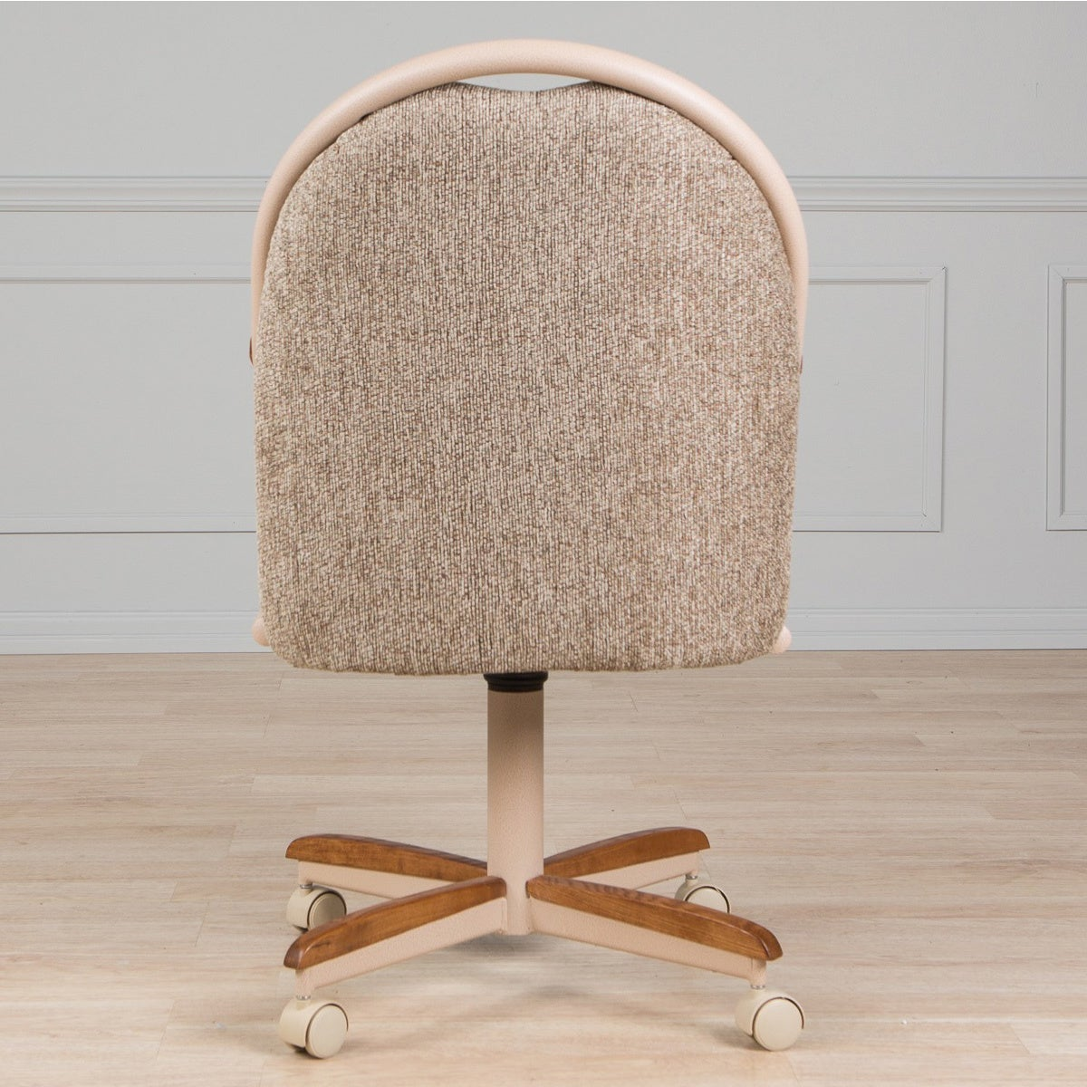 Shop casual dining cushion swivel and tilt rolling caster chair free shipping today overstock com 7924246