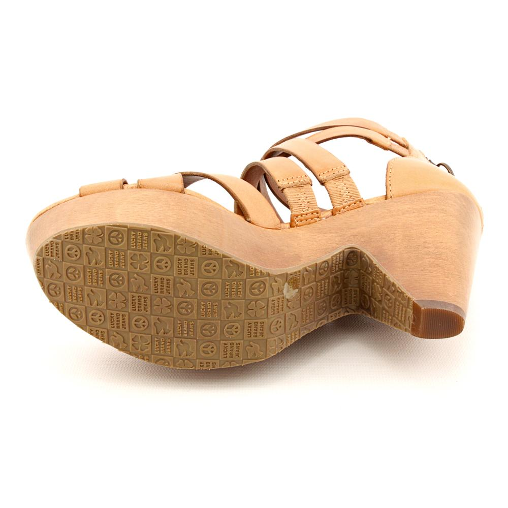 087a784d7 Shop Lucky Brand Women s  Abeo  Leather Sandals - Free Shipping Today -  Overstock - 7933174