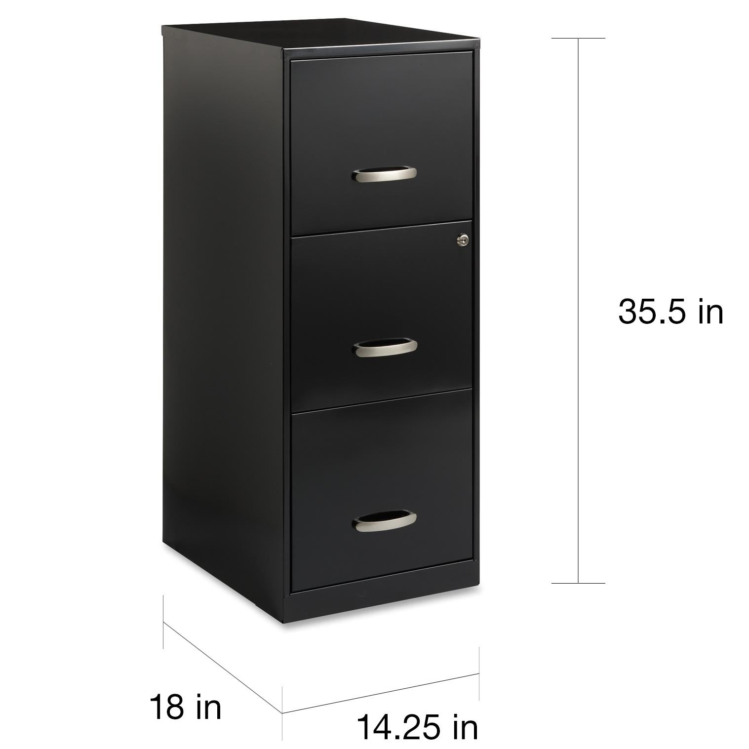 Office Designs 3 Drawer Black Steel File Cabinet Free Shipping Today 20603054