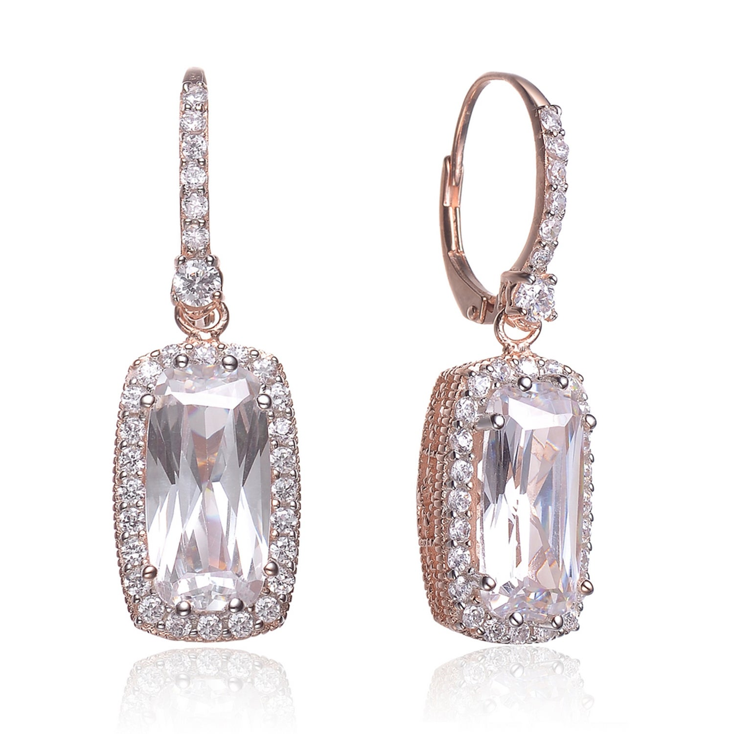and shape grams earring index gold white diamond weight rectangular round earrings baguette