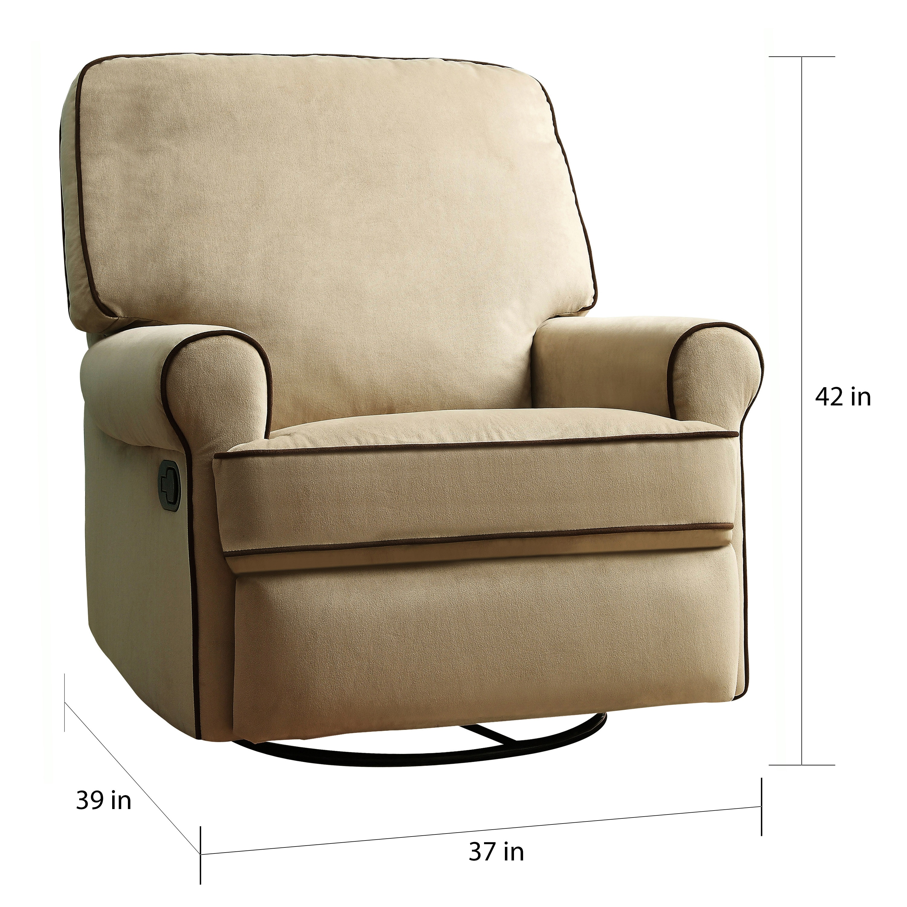 Chloe Sand Fabric Nursery Swivel Glider Recliner Chair On Free Shipping Today 7942162