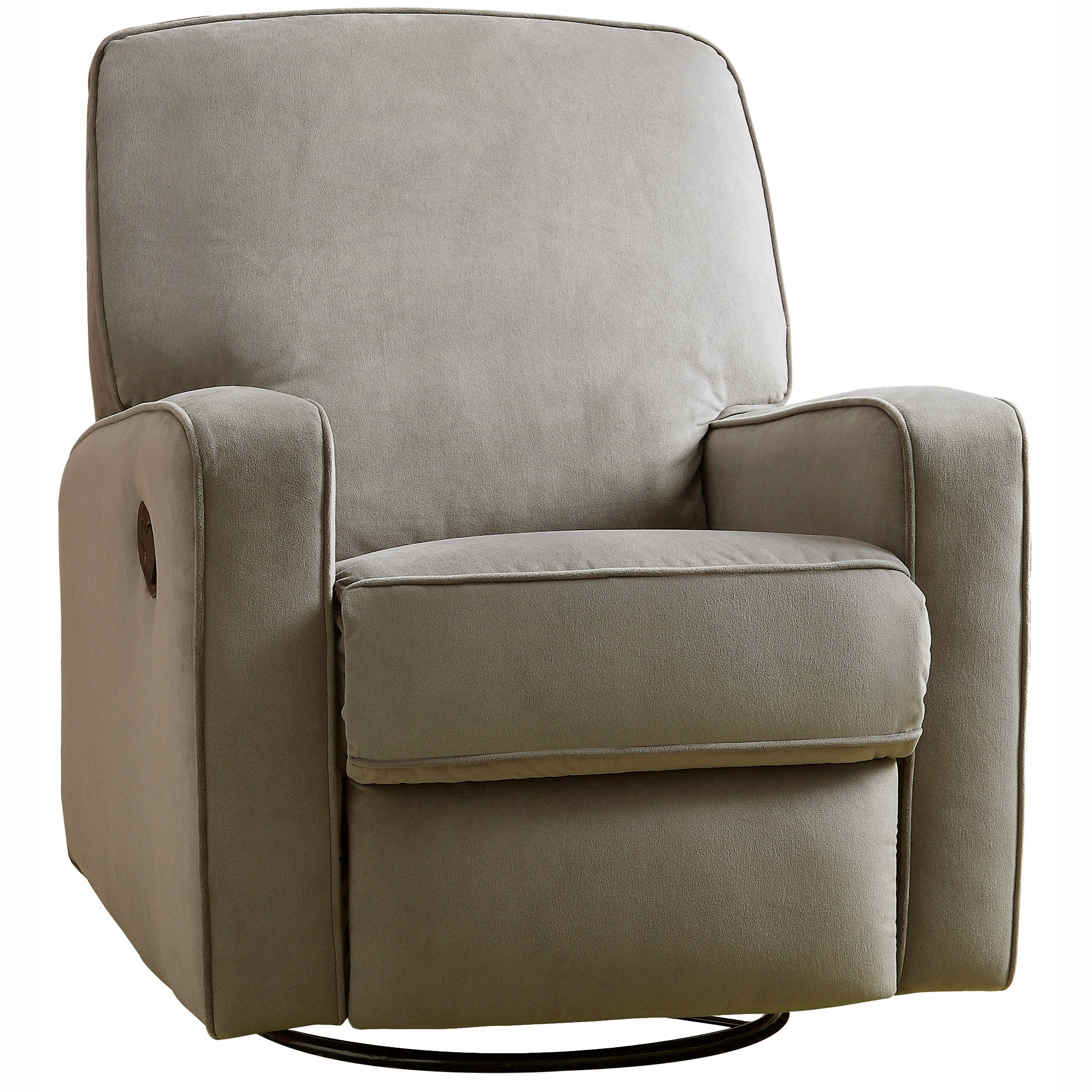 colton gray fabric modern nursery swivel glider recliner chair  freeshipping today  overstockcom  . colton gray fabric modern nursery swivel glider recliner chair