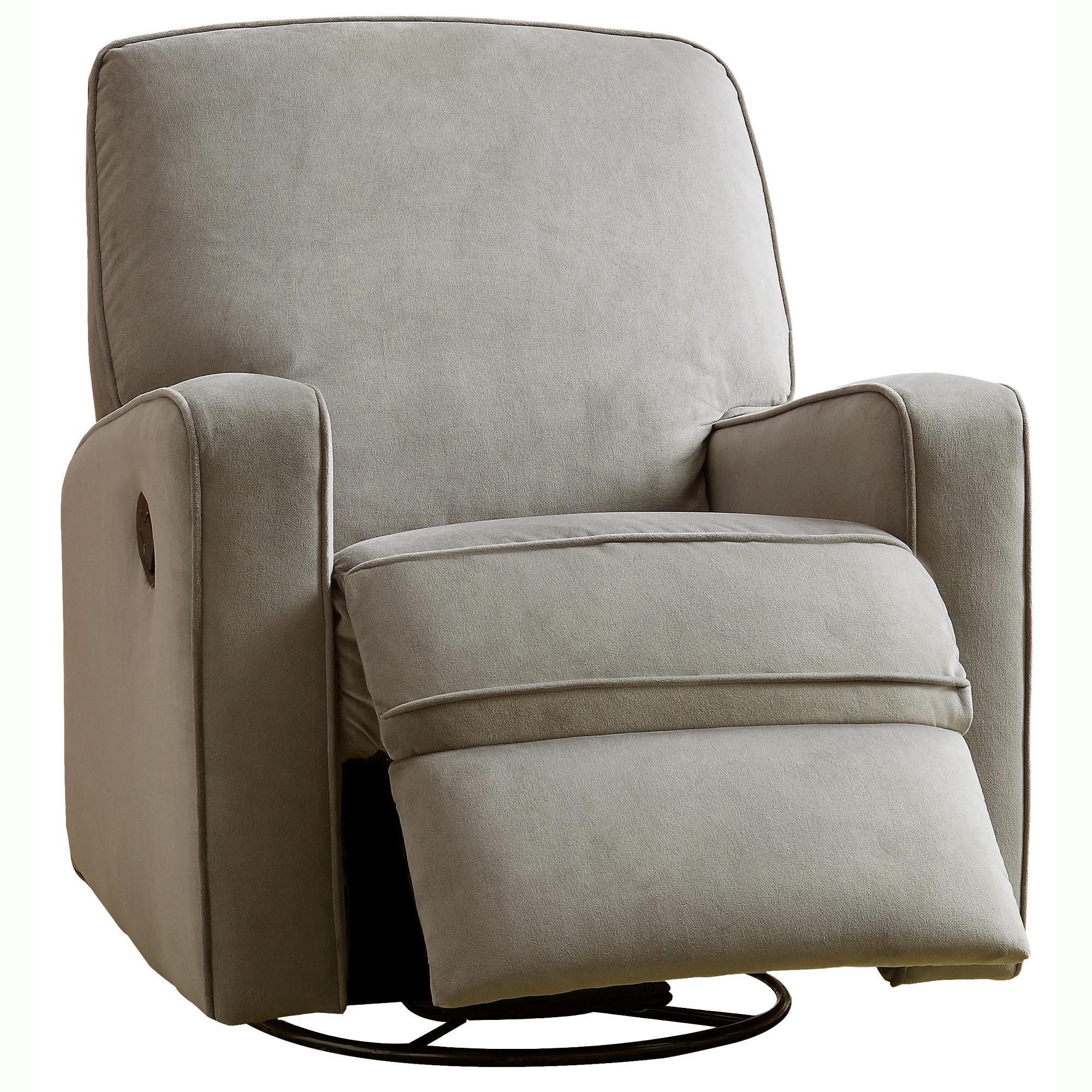 colton gray fabric modern nursery swivel glider recliner chair  freeshipping today  overstockcom  . colton gray fabric modern nursery swivel glider recliner chair