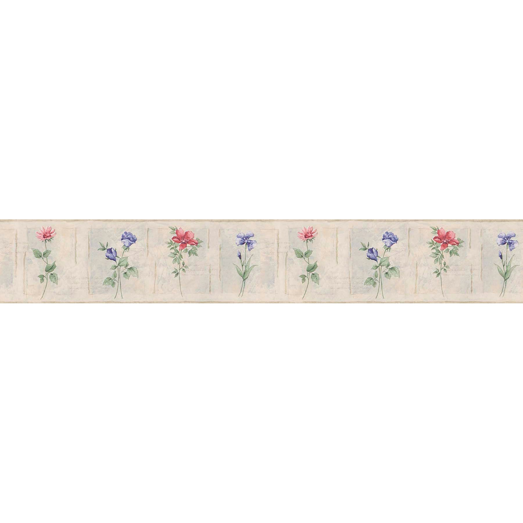 Shop Purple Floral Border Floral Wallpaper Ships To Canada