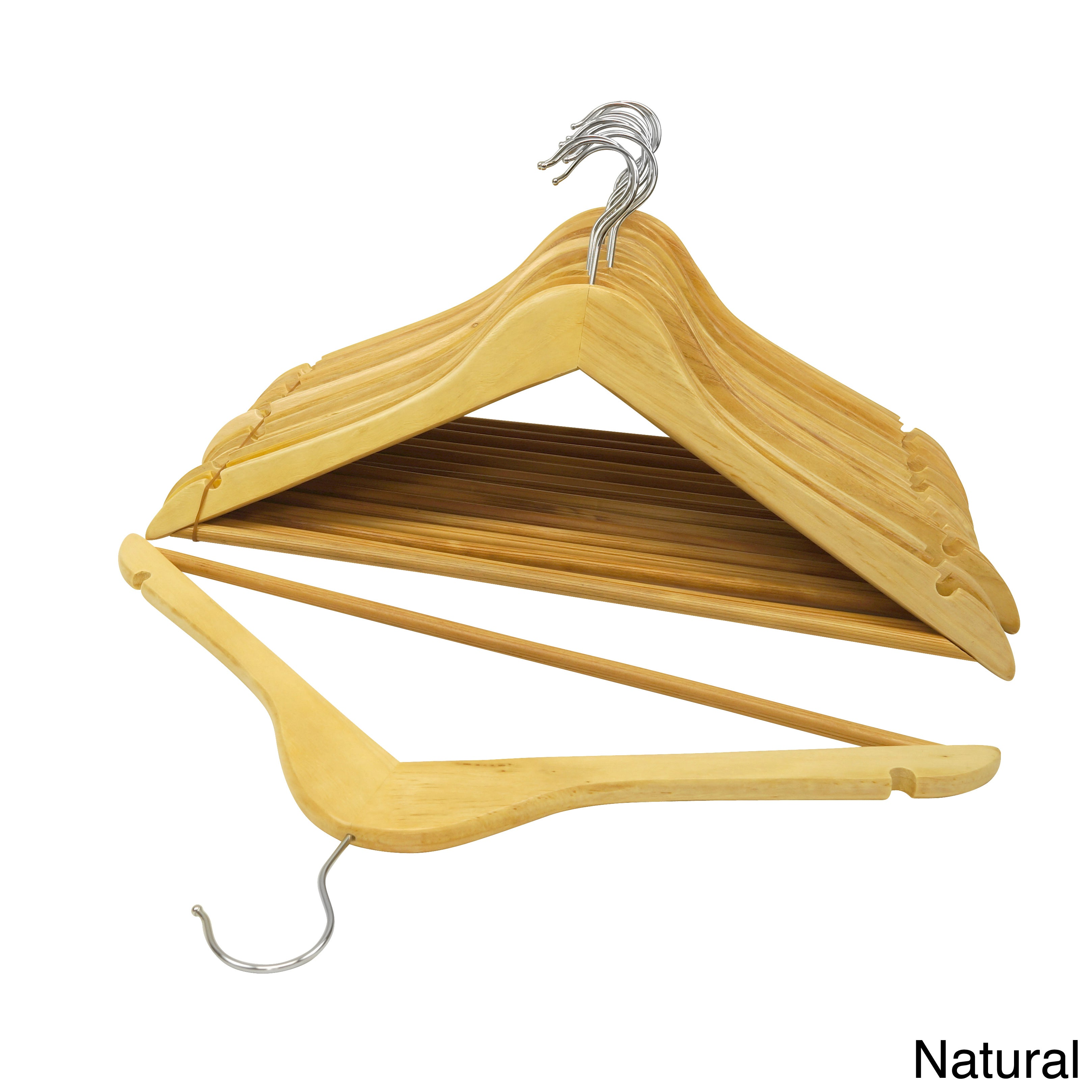 Florida Brand Wood Suit Hangers (Set of 48) - Free Shipping Today -  Overstock.com - 15319290
