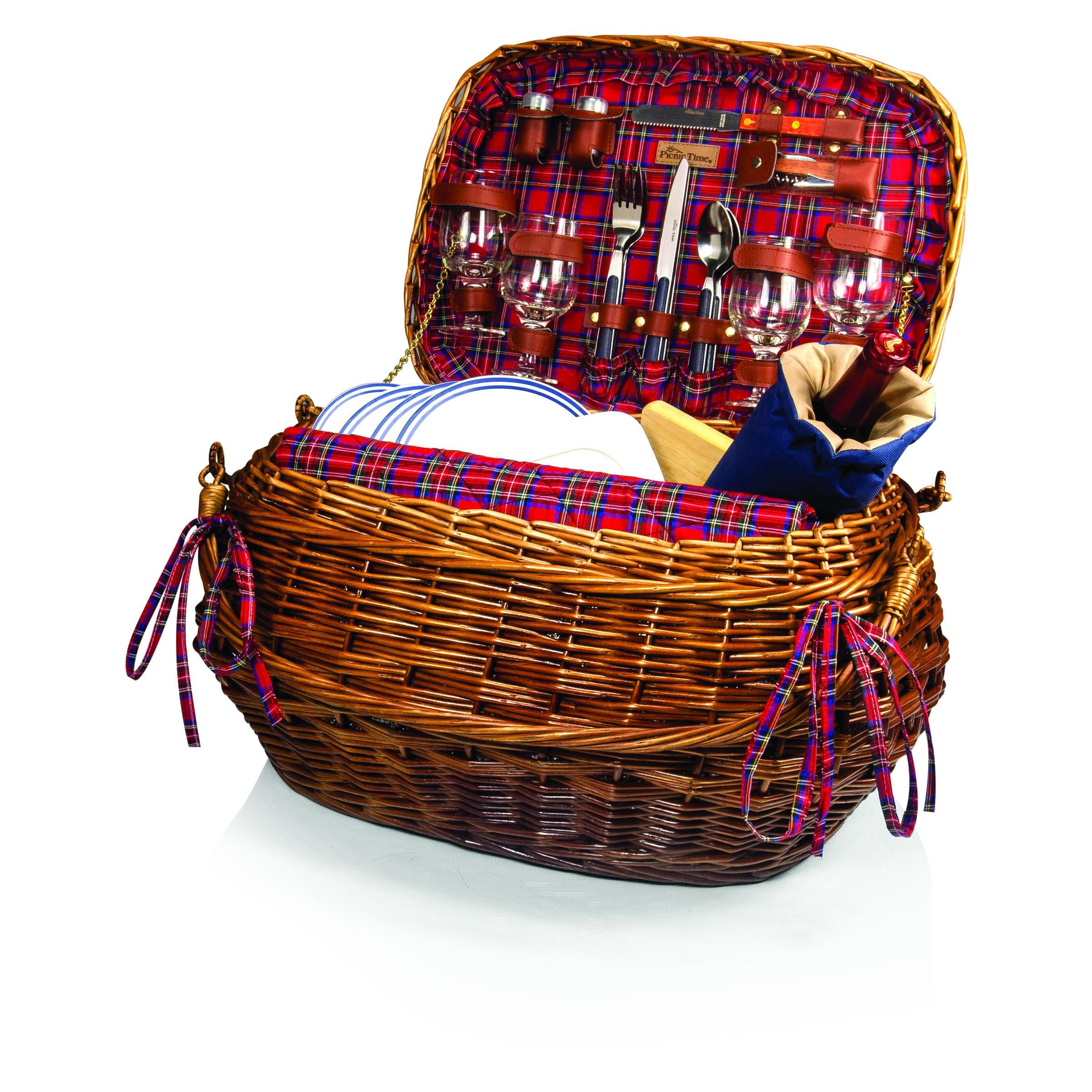 Highlander Picnic Basket Set (Service for 4) - Free Shipping Today -  Overstock.com - 15320212