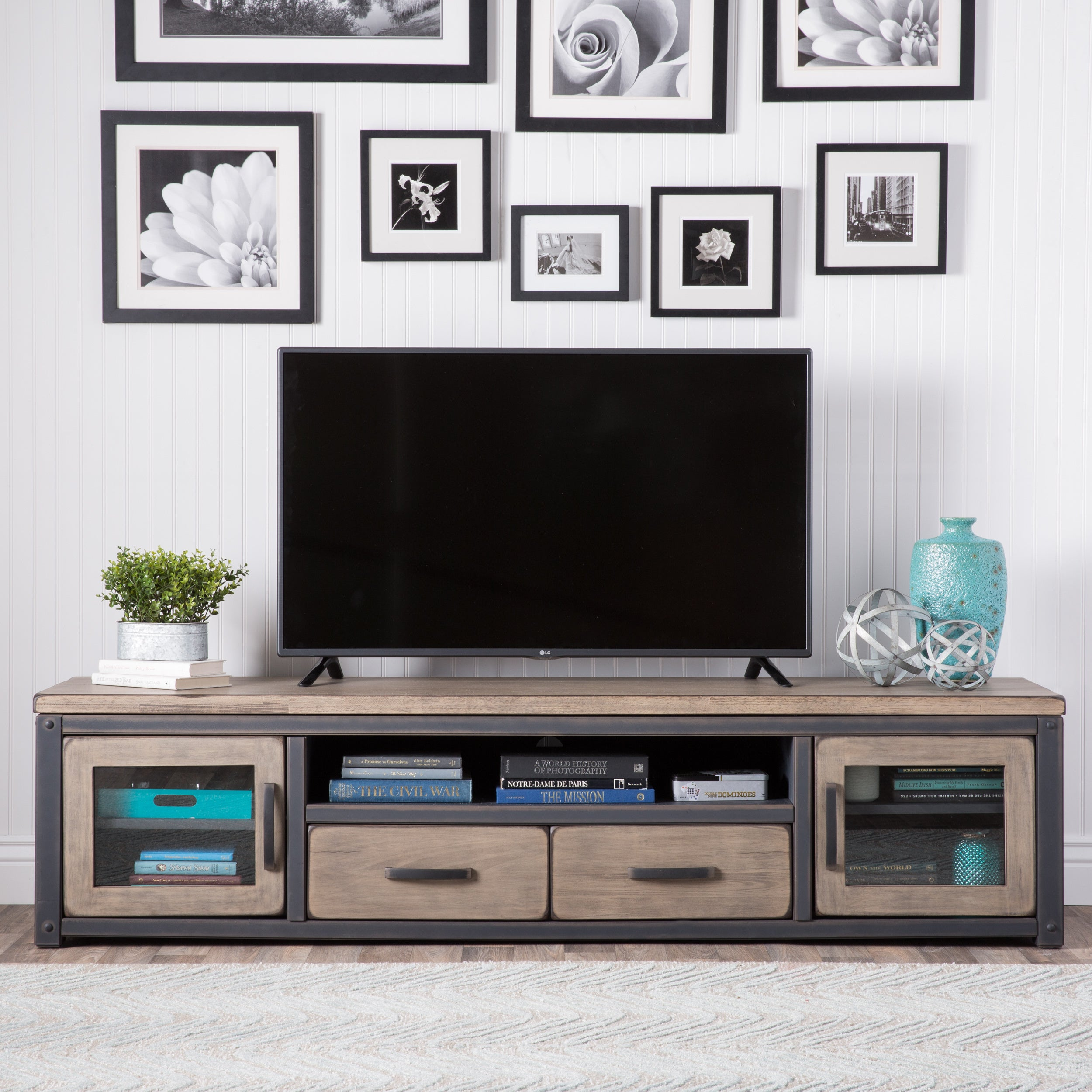 Carbon Loft Heritage Rustic Entertainment Center Free Shipping Today 7951237
