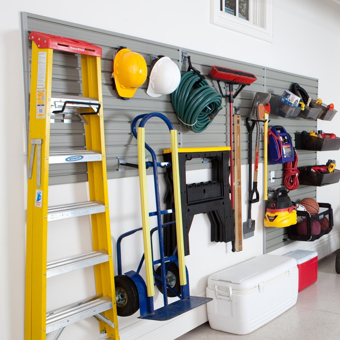 Flow Wall 48 foot Garage and Hardware Storage System Free