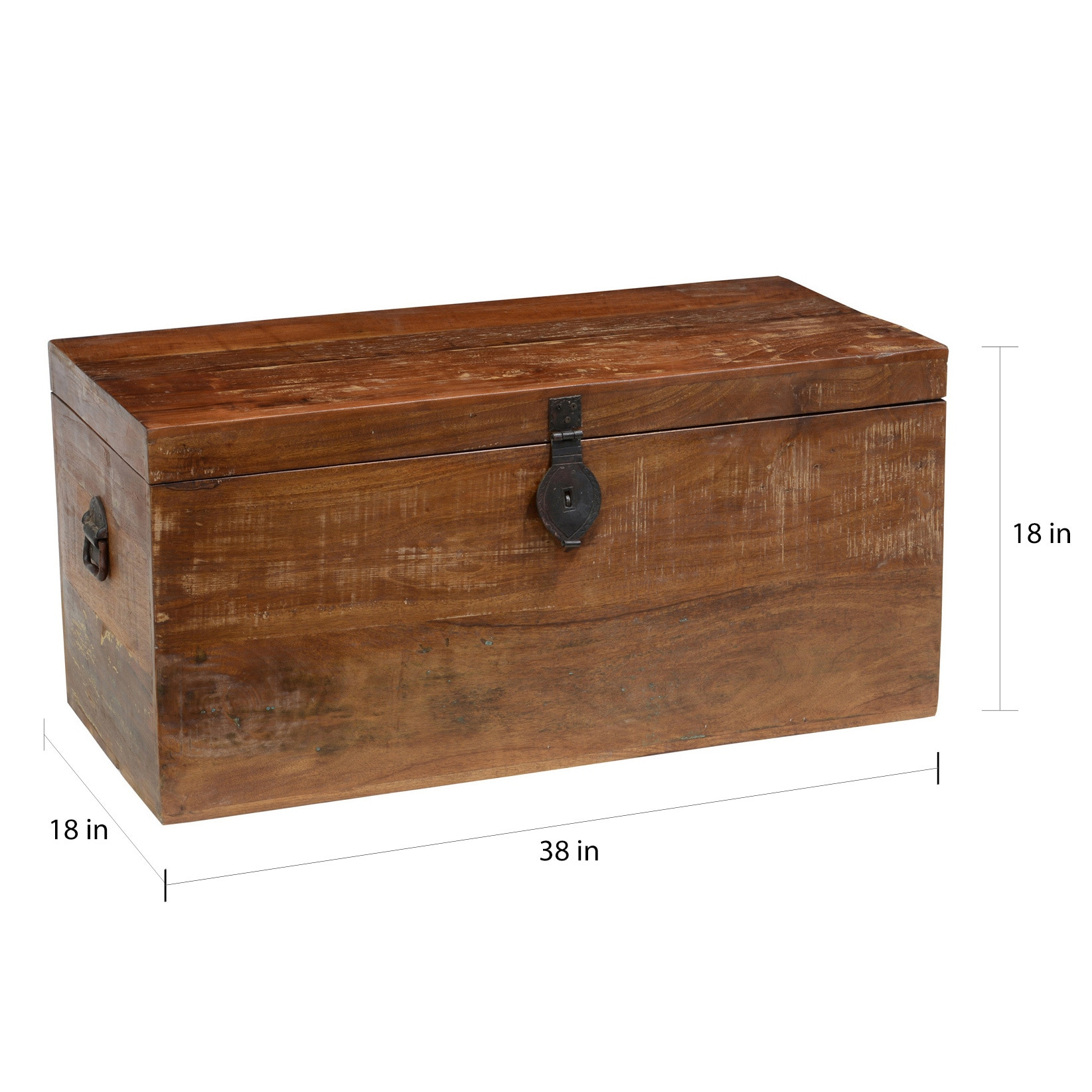 Shop Bali Reclaimed Wood Storage Trunk By Kosas Home   On Sale   Free  Shipping Today   Overstock.com   7954921