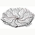 Handmade 18-Inch Copper Wire Brush Bowl (Indonesia)