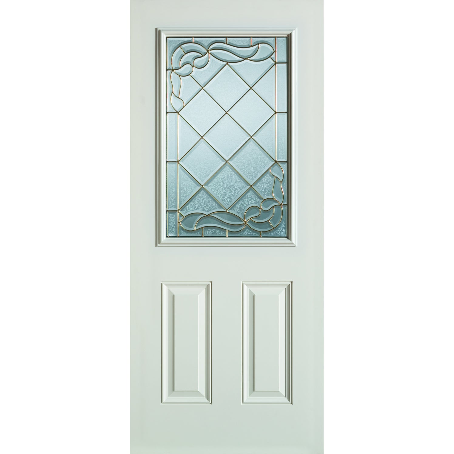 Shop Stanley Unfinished Smooth Fiberglass Pre-hung Entry Door (36 x ...