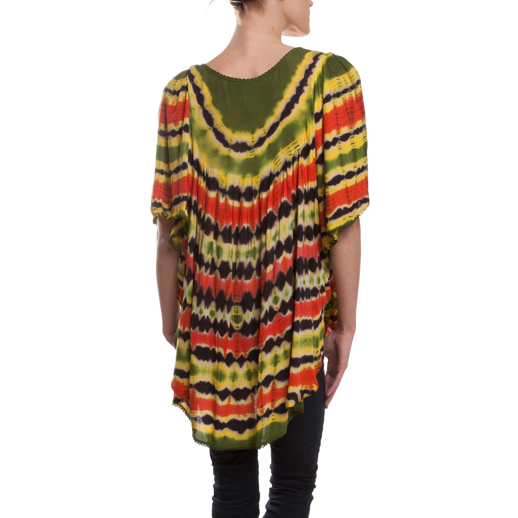 Handmade Rasta Boom Loose Fit Top India Free Shipping Orders